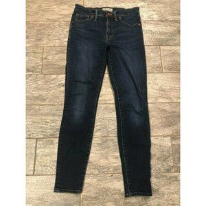 "Madewell 9"" high rise skinny jeans size 27 Dark"